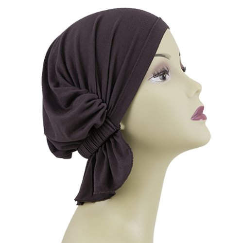 brown solid beanie cover hatscarves for cancer patients