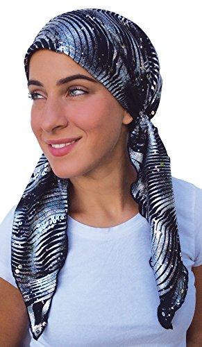 pre scarf fitted bandana tichel hawaiian nights