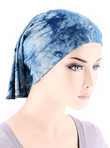 womens ruffle chemo hat beanie scarf turban wrap for