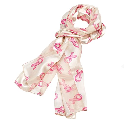 breast cancer awareness ribbons scarf black ivory scarves