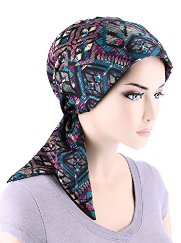 chemo fashion scarf easy tie turban hat headwear for