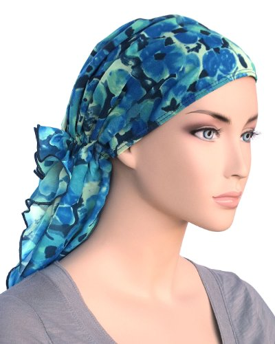 bohemian scarf adjustable cotton lined pretied for